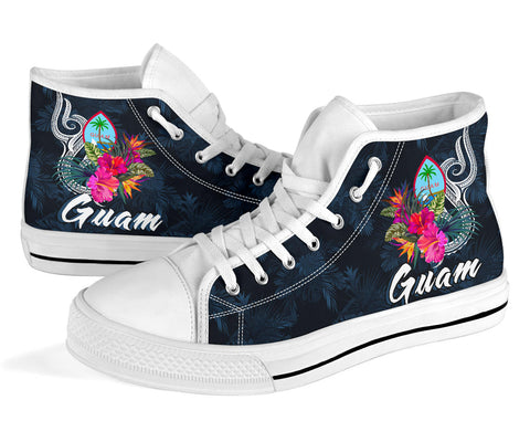 Guam Polynesian High Top Shoe - Tropical Flower - BN12