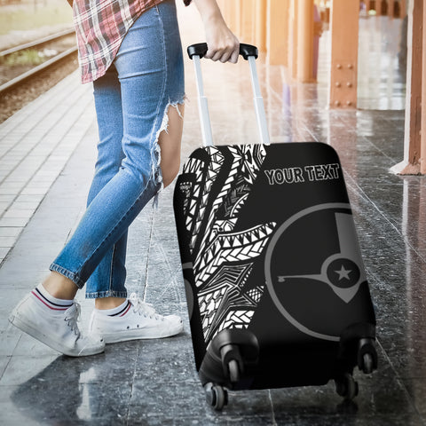 Image of Yap Personalised Custom Luggage Covers - Micronesian Pattern Flash Black - BN39