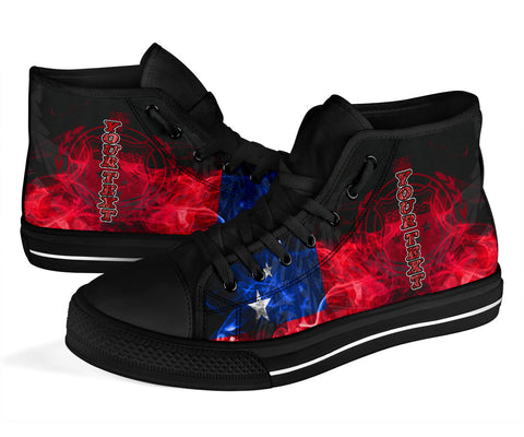 Samoa Polynesian Custom Personalised High Top Shoe - Smoking Style - BN39