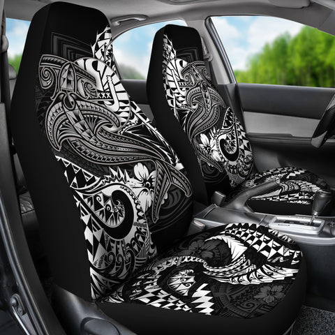 Tahiti Car Seat Covers - White Shark Polynesian Tattoo - BN18