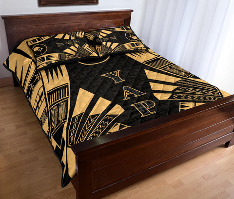 Yap Quilt Bed Set - Yellow Tattoo Style - BN0112