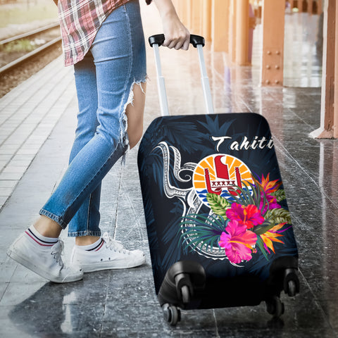 Image of Tahiti Polynesian Luggage Covers - Tropical Flower - BN12