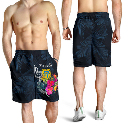 Image of Tuvalu Polynesian Men's Shorts - Tropical Flower