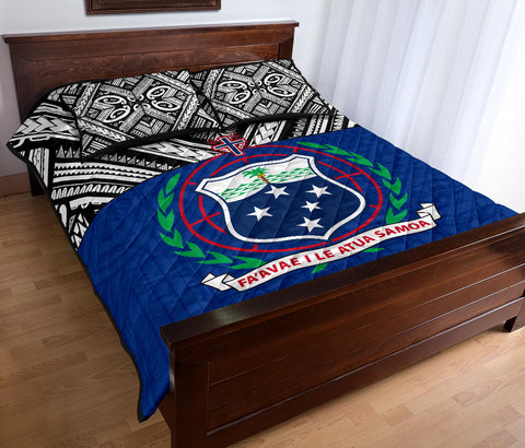 Image of Samoa Quilt Bed Set - Polynesian Blue Version - BN0912