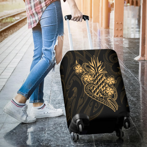 Polynesian Luggage Covers - Gold Pineapple - BN12
