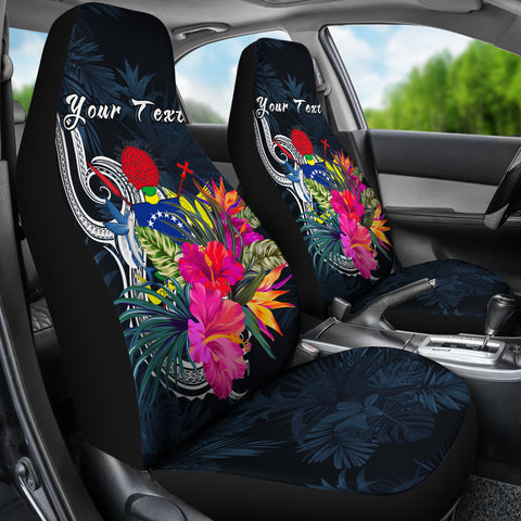 Cook Islands Polynesian Custom Personalised Car Seat Covers - Tropical Flower - BN12