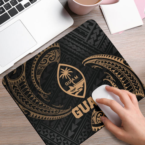 Guam Polynesian Mouse Pad - Gold Tribal Wave - BN12