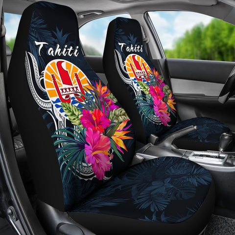 Tahiti Polynesian Car Seat Covers - Tropical Flower - BN12