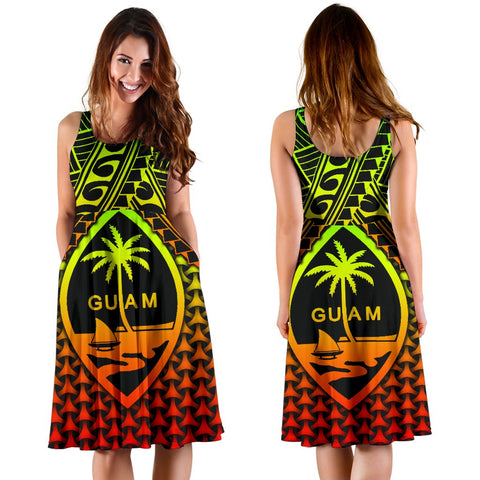 Polynesian Guam Women's Dress - Reggae Vintage Polynesian Patterns