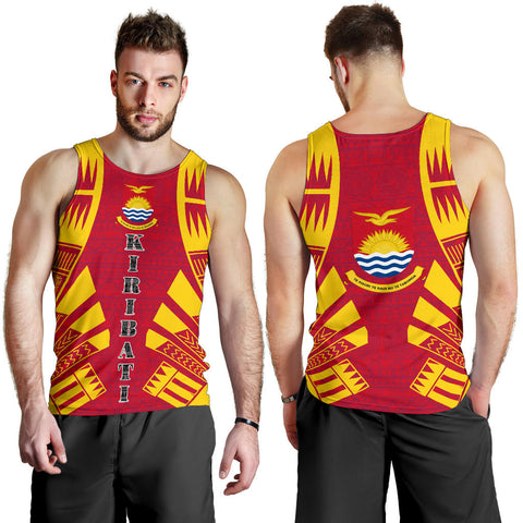 Image of Kiribati Men Tank Top - Polynesian Tattoo Flag - BN0110