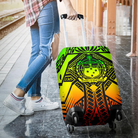 Samoa Polynesian Luggage Covers - Samoa Reggae Seal with Polynesian Tattoo - BN18