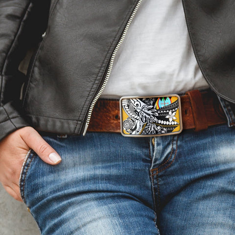 Guam Belt Buckle - Tribal Jungle Pattern - BN20
