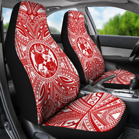 Tonga Car Seat Cover - Tonga Coat Of Arms Polynesian Flag Color Bn10
