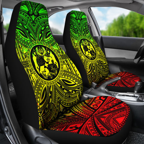 Tonga Car Seat Cover - Tonga Coat Of Arms Polynesian Reggae Style Bn10