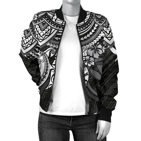 Polynesian Hawaii Bomber Jacket (Women) - White Turtle - BN1518