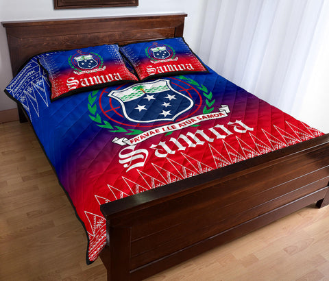 Samoa Coat of Arms Quilt Bed Set - BN12