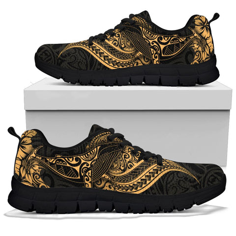 Polynesian Hawaii Sneakers - Polynesian Golden Humpback Whale