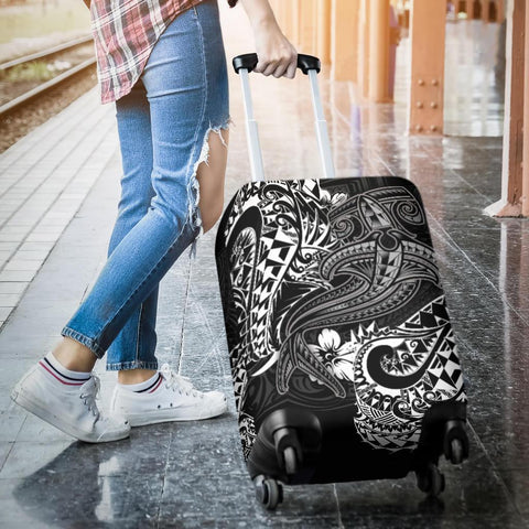 Polynesian Luggage Covers - White Shark Polynesian Tattoo - BN18