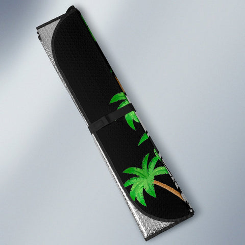 Image of Guam Custom Personalised Auto Sun Shades - Ginger Lei Pattern - BN20