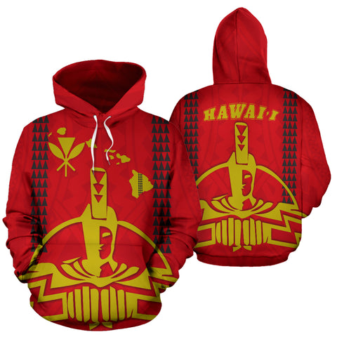 Image of Hawaii King All Over Hoodie