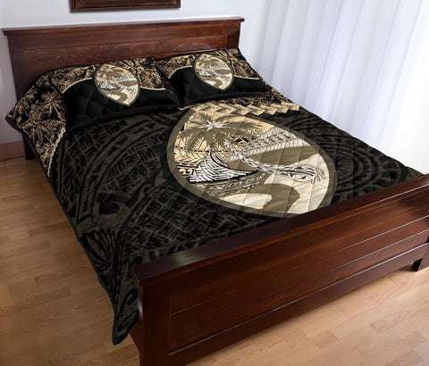 Image of Guam Polynesian Quilt Bed Set Golden Coconut A02