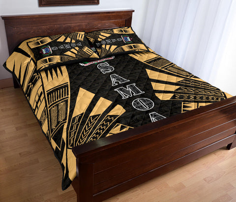 Samoa Quilt Bed Set - Yellow Tattoo Style - BN0112