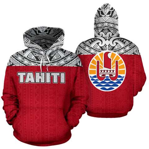 Image of Tahiti All Over Hoodie - Polynesian Hoodie Style - BN09
