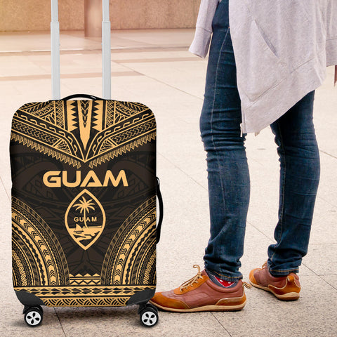 Guam Polynesian Chief Luggage Cover - Gold Version - Bn10