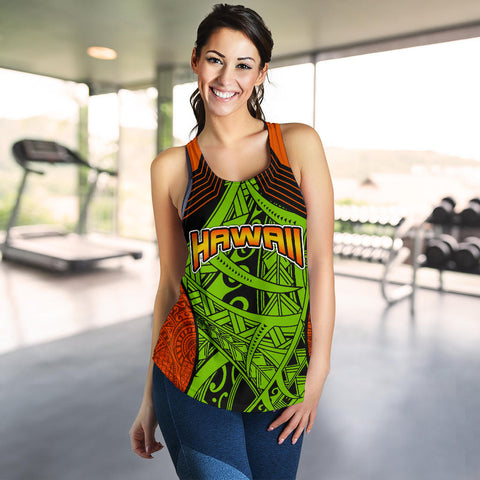 Polynesian Hawaii Women's Racerback Tank - Tribal Wave - BN12