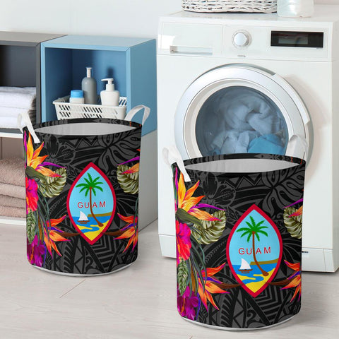 Guam Laundry Basket Hibiscus Polynesian Pattern - BN39
