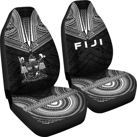 Fiji Polynesian Chief Car Seat Cover - Black Version - Bn10