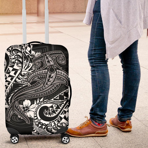 Image of Polynesian Luggage Covers - White Shark Polynesian Tattoo - BN18