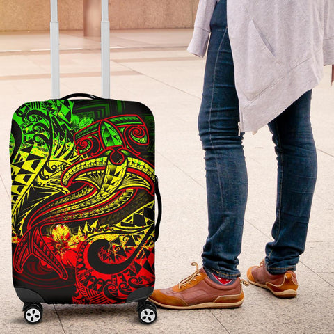 Image of Polynesian Luggage Covers - Reggae Shark Polynesian Tattoo - BN18