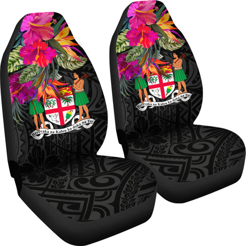 Image of Fiji Car Seat Covers - Polynesian Hibiscus Pattern - BN39