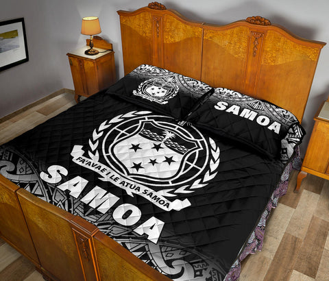 Samoa Quilt Bed Set - Fog Black Version -  BN12