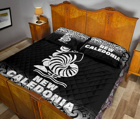 New Caledonia Polynesian Quilt Bed Set - Black Fog Style - BN12