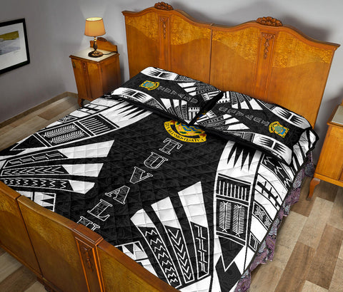Tuvalu Quilt Bed Set - Black Tattoo Style - BN0112
