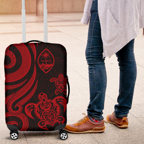 Guam Polynesian Luggage Covers - Red Tentacle Turtle - BN11