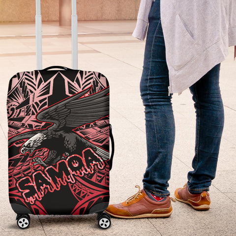 Image of Samoa Polynesian Luggage Covers - Eagle Tribal Pattern Red - BN12