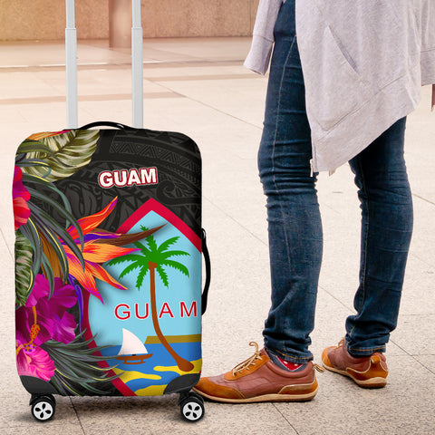 Guam Luggage Covers - Hibiscus Polynesian Pattern - BN39