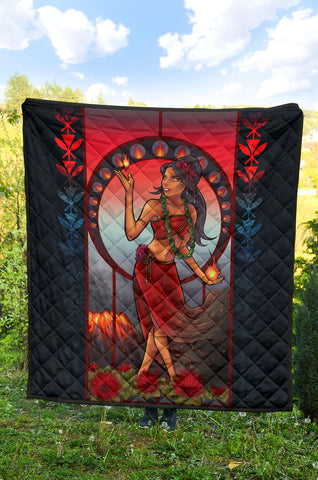Image of Polynesian Hawaii Quilt - Pele Hawaiian Girl - BN04