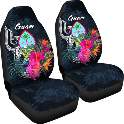 Guam Polynesian Car Seat Covers - Tropical Flower - BN12