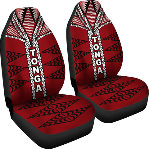 Image of Tonga Polynesian Car Seat Covers - Tongan Ngatu Pattern - BN12