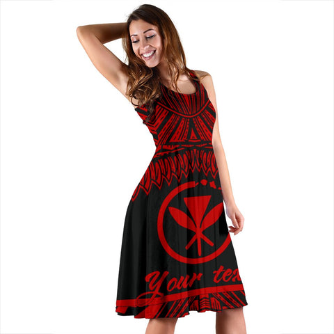 Hawaii Polynesian Custom Personalised Women's Dress - Hawaii Pride Red Version - BN12