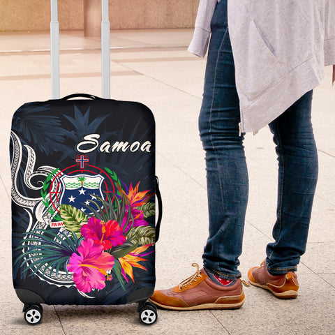 Samoa Polynesian Luggage Covers - Tropical Flowers - BN12
