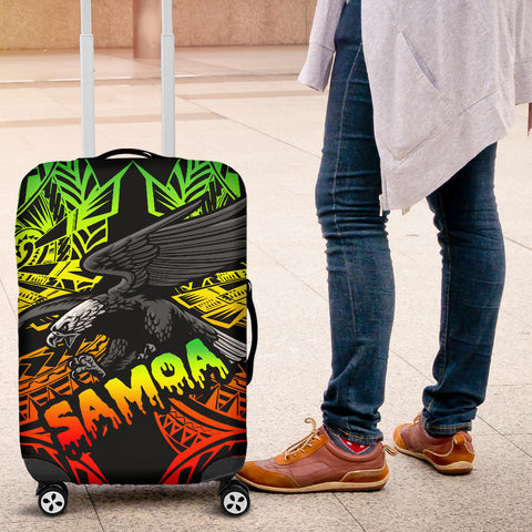 Samoa Polynesian Luggage Covers - Eagle Tribal Pattern Reggae - BN12