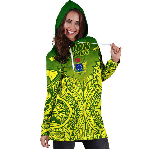 (Kuki Arirani) Cook Islands Premium Hoodie Dress A7