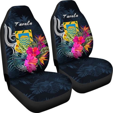 Tuvalu Polynesian Car Seat Covers - Tropical Flower - BN12