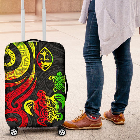 Guam Polynesian Luggage Covers - Reggae Tentacle Turtle - BN11