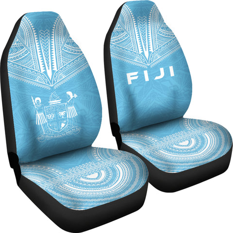 Fiji Flag Polynesian Chief Car Seat Cover Bn10
